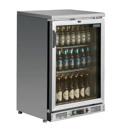 Polar Comptoir de Bar INOX | Simple Porte Battante | Pour 104 Bouteilles | (h)920mm