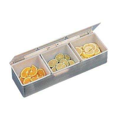 CHRselect Boîte à Ingrédients   3 compartiments   Inox
