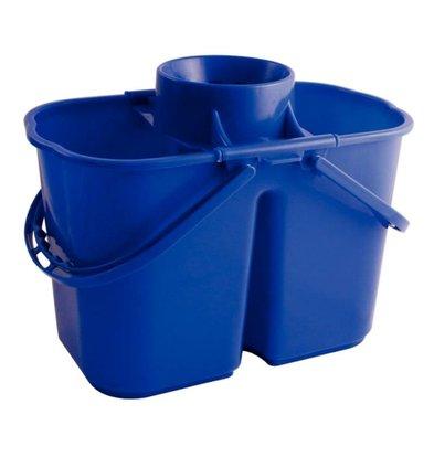 CHRselect Seaux-Essoreurs Doubles - Sections De 7 Et 8 Litres - Bleu