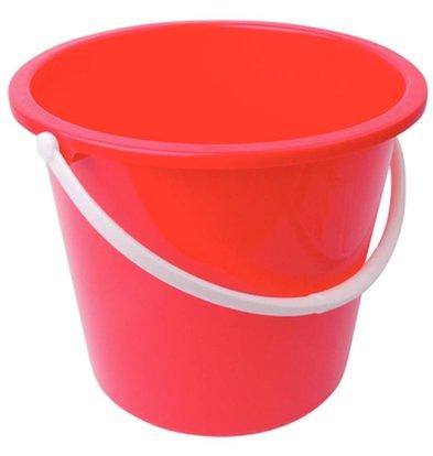 CHRselect Seau En Plastique - Jantex - 10 Litres - Rouge