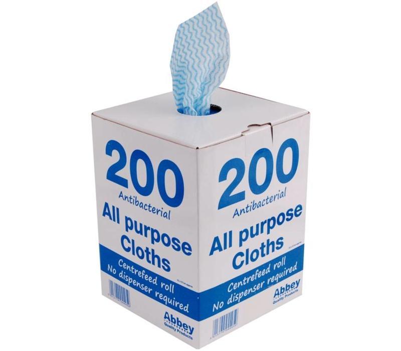 Jantex Chiffons Multi Usage | Anti-Bactériens - Jantex - Bleu - 200 Pièces