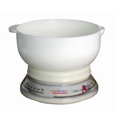 Weightstation Balance de Cuisine Analogue | 3Kg/25gr.
