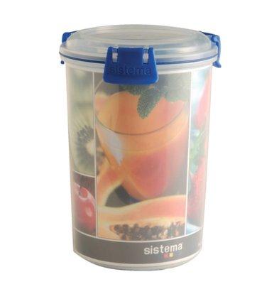 Klip-it Boîte De Conservation Ronde Klip It - Pot à Sauce - 1 Litre - 110x110x160Ømm