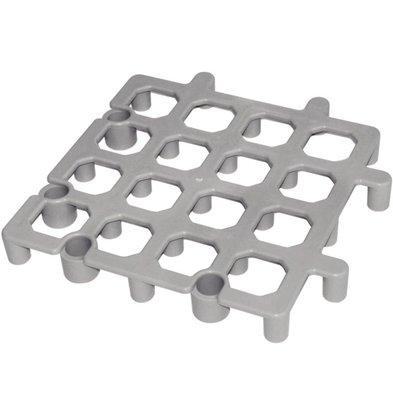 CHRselect Support à Structure Aérée - Polypropylène - Gris - 335x335mm - 2 Pièces