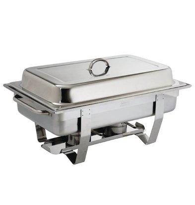 CHRselect Chafing Dish Milan   GN 1/1 Inox   2 Brûleurs   9 Litres
