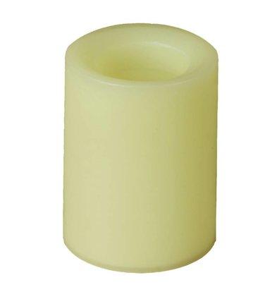 CHRselect Bougie Cylindrique En Cire Sans Flamme - Champagne - Ø83x102(h)mm