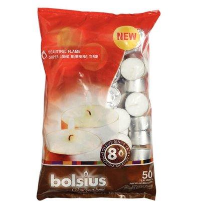 Bolsius Bougies Chauffe-Plat - Bolsius - 8 Heures - 50 Pièces