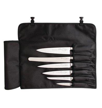 Dick Etui à Couteaux En Tissu Noir - 6 Compartiments - Dick