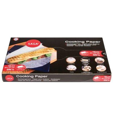 CHRselect Papier Cuisson Panini | 330x270mm | Lot de 100 Feuilles
