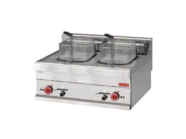 Gastro M Friteuse Électrique   2x 10 Litres    400V   Paniers Inclus   605x700x280(h)mm