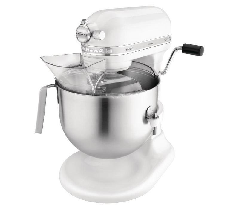 KitchenAid Mixeur Professionnel | KitchenAid K5 | Blanc | 6,9 Litres