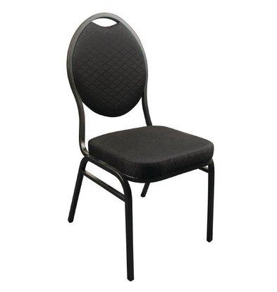 CHRselect Chaises de Baquet Empilables | Tissu Uni Noir | Lot de 12