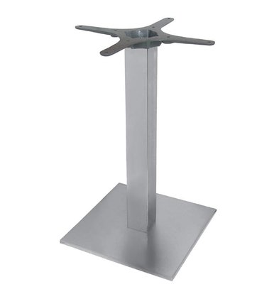CHRselect Pied De Table Carré | Inox | 720(h)mm