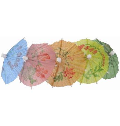 CHRselect Parasols En Papier Différentes Couleurs - 170mm - 144 Pièces
