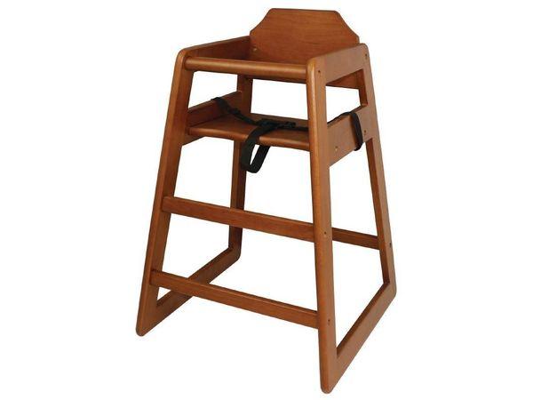CHRselect Chaise Haute Pour Enfant - Brun Foncé - 510(L)x510(P)x750(H)mm