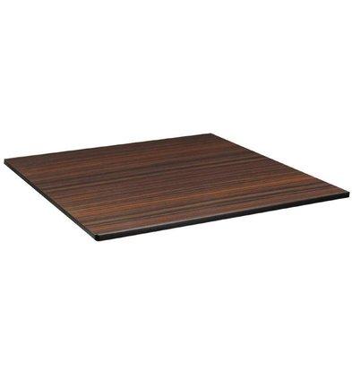 Compact Exterior Plateau De Table | Ébène | Compact Exterieur | 680x680mm