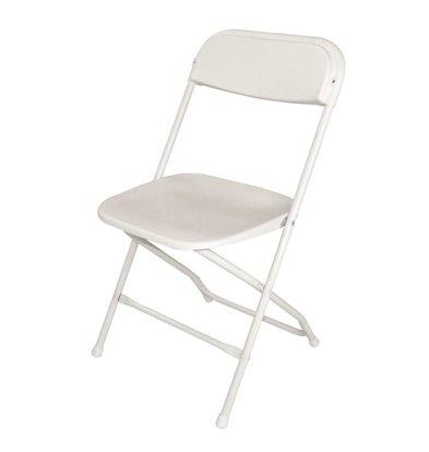 CHRselect Chaises Pliantes Blanches | Empilable Jusqu'à 50 Chaises | Lot de 10