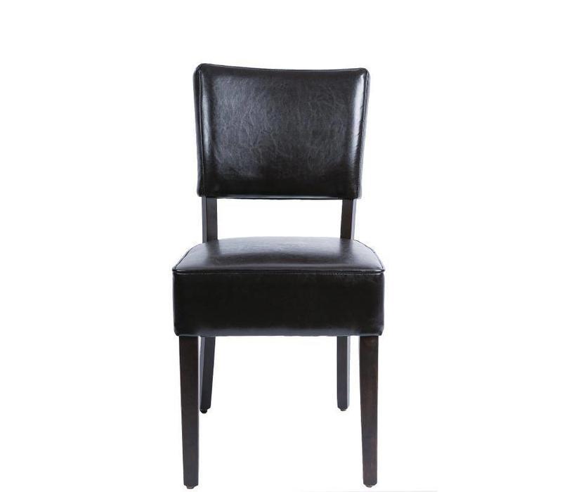 CHRselect Chaise en Simili Cuir | Marron Foncé | Lot de 4