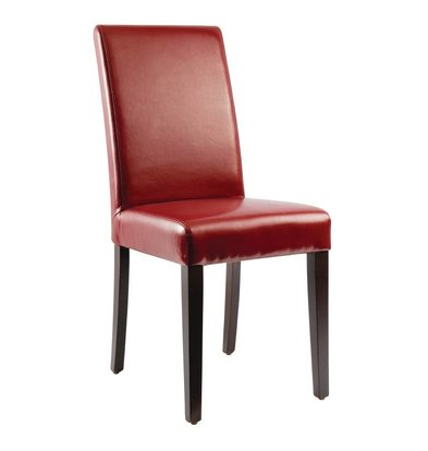 CHRselect Chaises en Simili Cuir Rouges | Lot de 4
