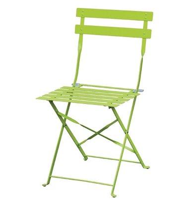 CHRselect Chaises de Terrasse | Acier Vert | Lot de 4