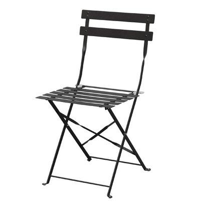 CHRselect Chaises de Terrasse | Acier Noir | Lot de 4