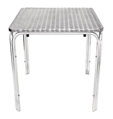 CHRselect Table Carrée Empilable Inox | Pieds Aluminium | 700x700x720(h)mm