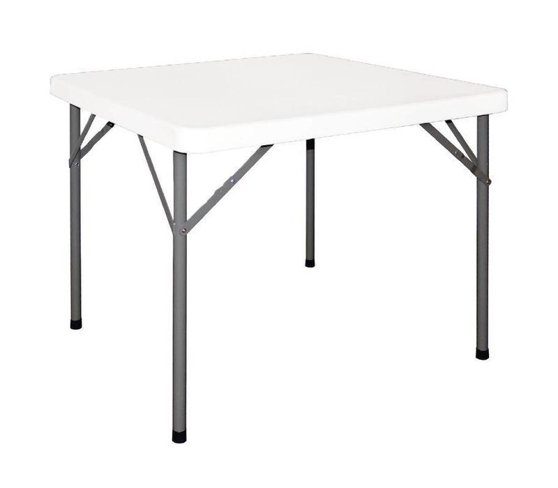 CHRselect Table Carrée | Pieds Pliants Sous le Plateau | 860x860x740(h)mm