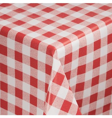 CHRselect Nappe à Carreaux Rouges/Blancs - PVC - Disponibles en 2 Tailles
