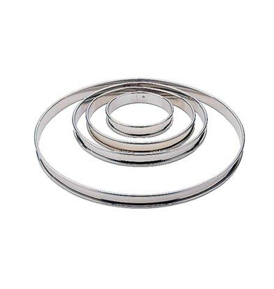 Matfer Cercle à Tarte Lisse - Inox - Matfer - Ø200mm