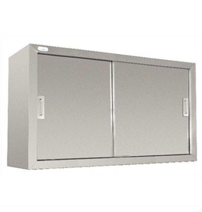 CHRselect Armoire Murale Inox - 2 Portes Coulissantes - Soudé - 300(p)x1200(l)x600(h)mm
