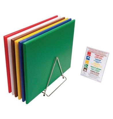 Hygiplas Set De 6 Planches à Découper Hygiplas + Support + Poster - 450x600x24(H)mm