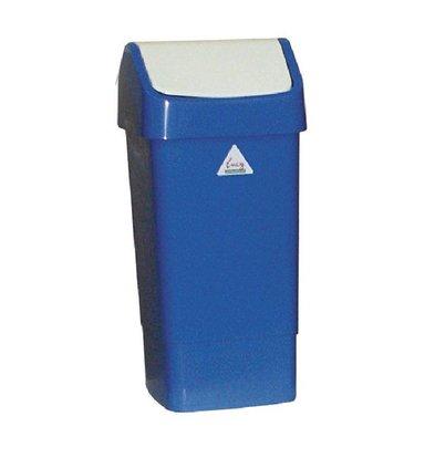 CHRselect Poubelle Bleue + Couvercle Battant - SIR - 50 Litres