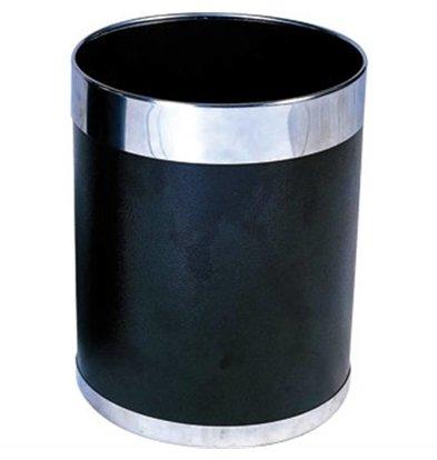 CHRselect Corbeille Noire + Bagues Argentées - 10,2 Litres - Ø224x280(h)mm