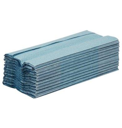 Jantex Essuie-Mains Bleus - 2 Plis - Pliage en C - Lot de 15 x 192 Feuilles