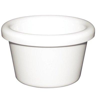 Kristallon Ramequin Lisse - Mélamine Blanc - Kristallon - 43ml - 12 Pièces