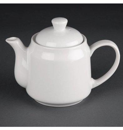 Athena Pot à Thé Athena - Porcelaine Blanche - 430ml - 4 Pièces