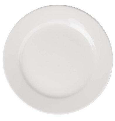 Athena Assiette à Bord Large - Athena - Porcelaine Blanche - 165mm - 12 Pièces