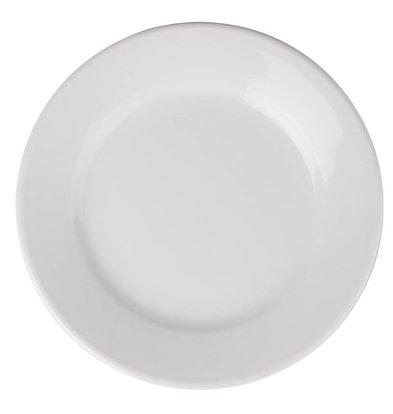 Athena Assiette à Bord Large - Athena - Porcelaine Blanche - 203mm - 12 Pièces