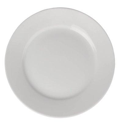 Athena Assiette à Bord Large - Athena - Porcelaine Blanche - 228mm - 12 Pièces