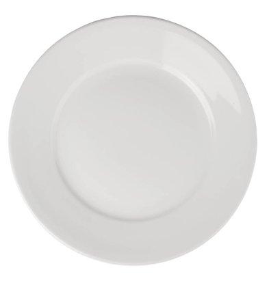 Athena Assiette à Bord Large - Athena - Porcelaine Blanche - 280mm - 6 Pièces