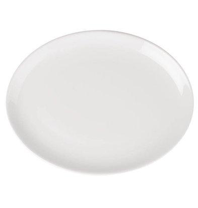 Athena Assiette Creuse Ovale - Athena - Porcelaine Blanche - 254x178mm - 12 Pièces