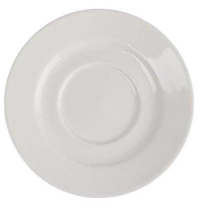CHRselect Soucoupe Lumina - Porcelaine Fine - 110mm - 6 Pièces