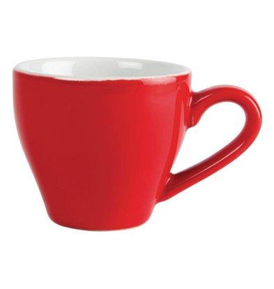 CHRselect Tasse à Espresso Olympia - Rouge - 100ml - 12 Pièces