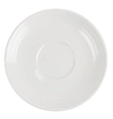 CHRselect Soucoupe Pour Tasse à Cappuccino - Linear Olympia - 210ml - 12 Pièces