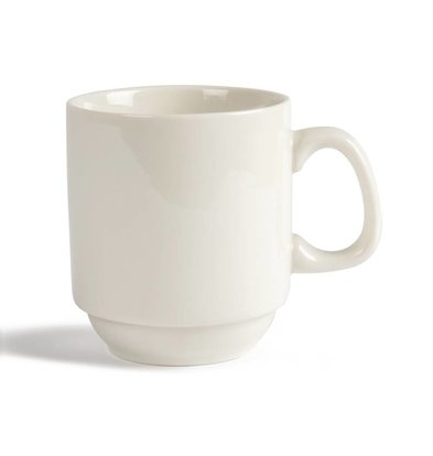 CHRselect Tasse Empilable - Ivory Olympia - 300ml - 12 Pièces