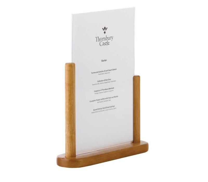 CHRselect Cadre De Table En Teck - Sécurit - A4