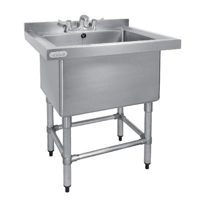 CHRselect Evier Profond 400mm Inox | 100 Litres + Bord | 770(l)x600(P)x900(H)mm