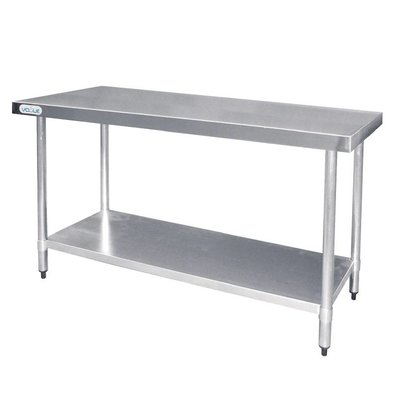F.E.D. Table De Travail Inox - Sans Rebords - 1200x600x900(h)mm