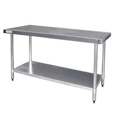 F.E.D. Table De Travail Inox - Sans Rebords - 1800(L)mm