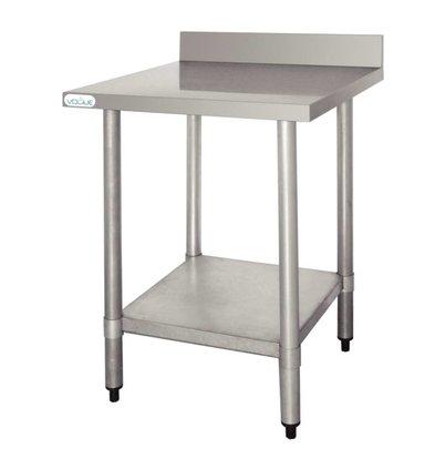 F.E.D. Table De Travail Inox + Dosseret - 900x600x900(h)mm